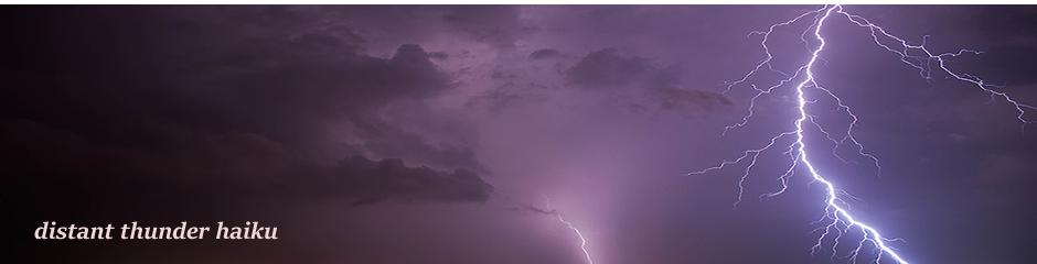 distant thunder haiku